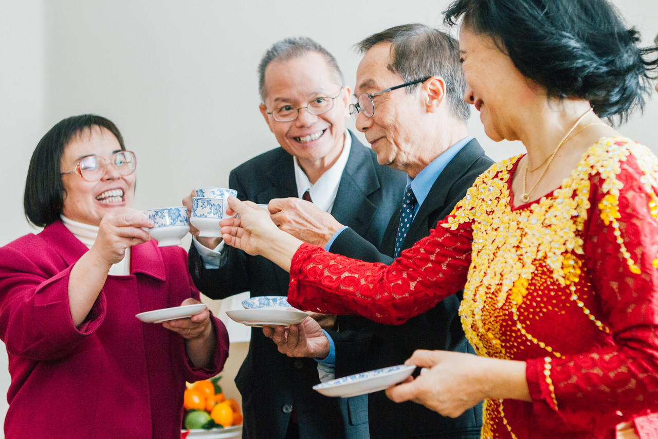 What to expect at a vietnamese tea ceremony donegee media parents of both sides happily cheers during a traditional vietnamese tea ceremony kristyandbryce Image collections